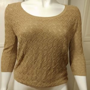 Golden Knit Sweater - Like New